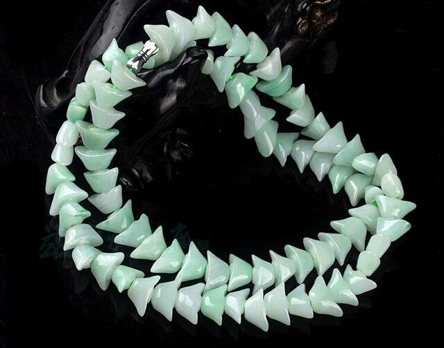 Best A Grade 100% Natural Rare Jade/Jadeite Bless Yuanbao Ingot Necklace