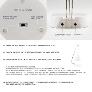Image 5 - Touch Sensor LED โคมไฟตั้งโต๊ะลำโพงบลูทูธ USB โคมไฟตั้งโต๊ะ led อ่านหนังสือไฟสำหรับโคมไฟห้องนอน