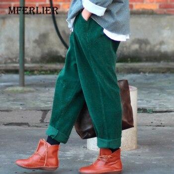 Pantalones de invierno pantalones de harén para mujer Pantalones anchos informales sueltos largos pantalones cruzados para mujer PANA gruesa Pantalones