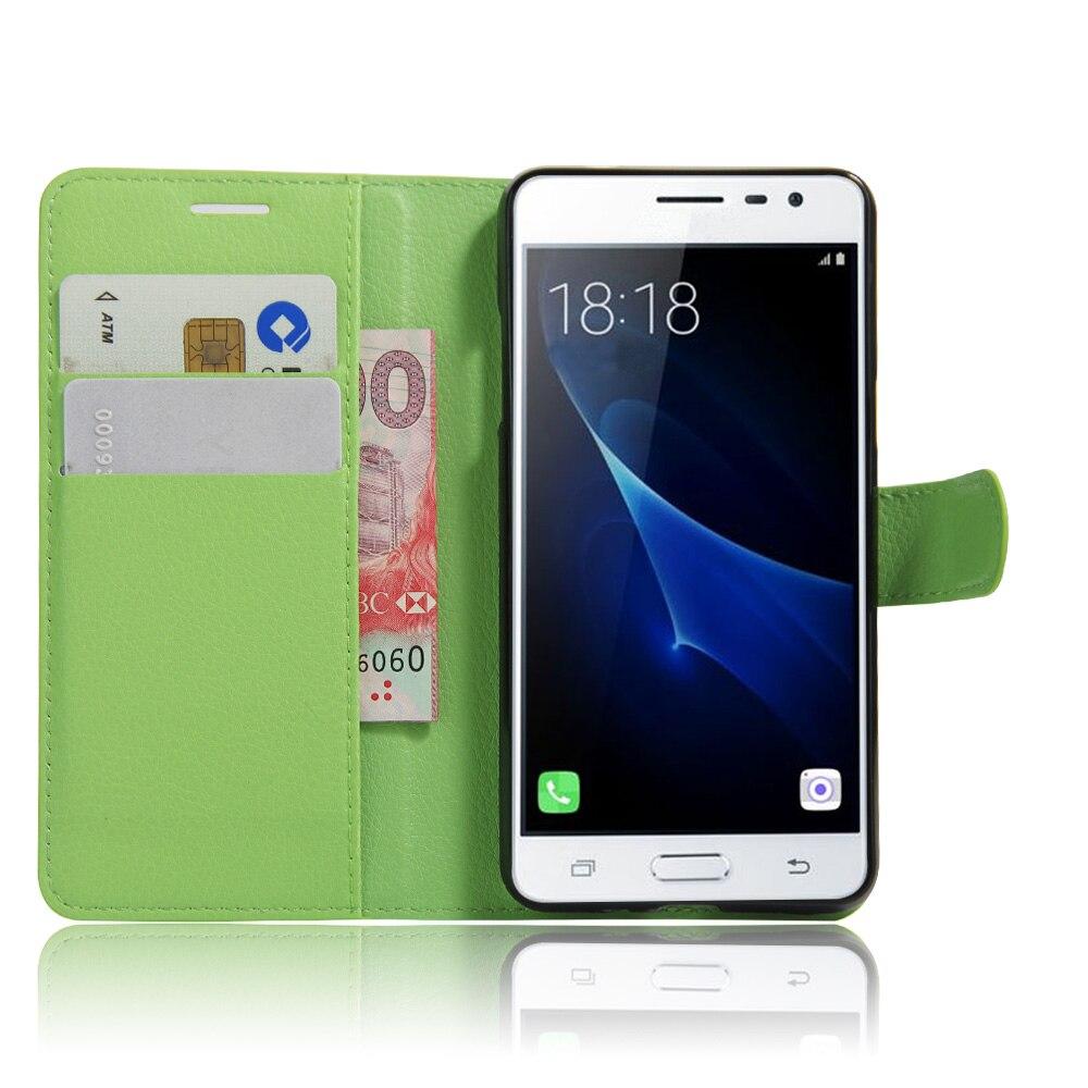 J3pro pour Samsung Galaxy J3 Pro Portefeuille carte stent Cas litchi Motif  Cas Couvre Flip Cas de Couverture en cuir noir SM J3PRO 3501f96dadc8
