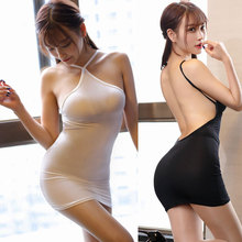 Thin Ice Silk See Through Halter Backless MINI Dress
