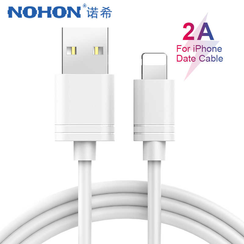 NOHON TPE Cable de carga de datos USB para iPhone X XS X MAX XR 8 7 6S 6 5 5S Plus cable de iluminación de sincronización de carga para iPad Mini