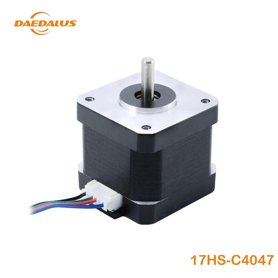 Dédalo Motor paso a paso Nema17 Motor 1 piezas 4-Cable 42 Motor 1.7A 17HS-C4047 para 3D impresora de grabado CNC de la máquina de fresado