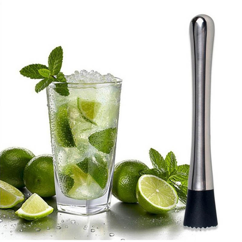 Hot sale New bar tools swizzle stick bpa free Stainless steel high-end ice broken popsicle
