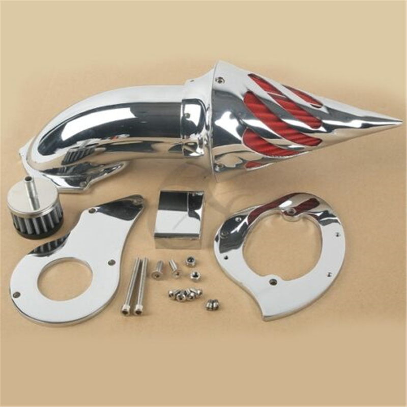 Chrome Air Cleaner Intake Filter Kit For Honda Shadow VLX600 VLX 600 1999 2012 Motorcycle