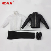 2 Colors 1/6 Scale Male Leather Jacket Clothes Suit and Shoes Accessories For 12 inches Figures Body