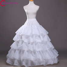 100% Satisfaction FREE SHIPPING Four lapse five-layer Bone Elastic Waist Full Crinoline Petticoats Underskirt