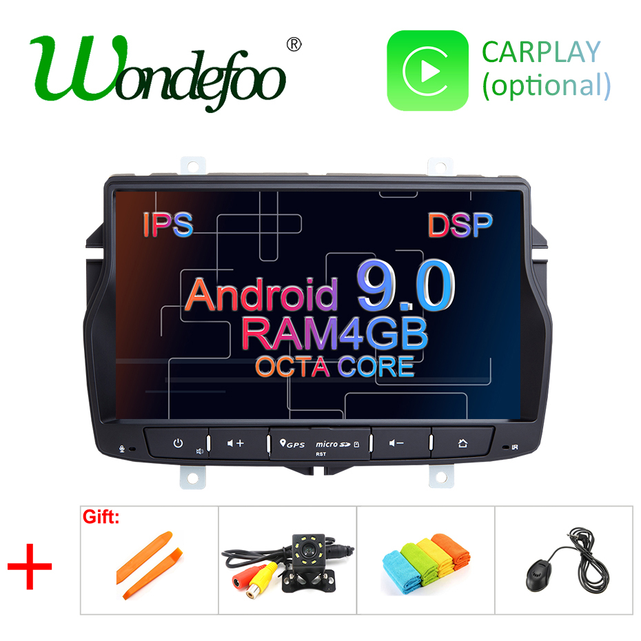 DSP IPS Android 9.0 4G RAM 2G CAR GPS For Lada Vesta 2015-2018 RADIO STEREO NAVIGATION Audio multimedia NO dvd player
