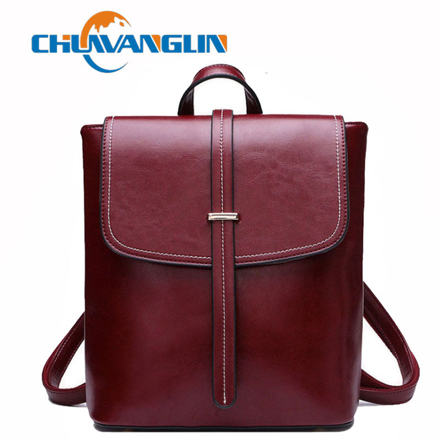 Chuwanglin Genuine Leather backpack women school bags casual feminine  backpacks Fashion travel bag mochila feminina A5076-in Backpacks from  Luggage   Bags ... 94fff9ae55