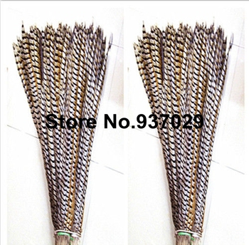 Factory Sales Cheap 10pcs Natural reeves' pheasant tail feather 90-100cm Pheasant chicken tail feather