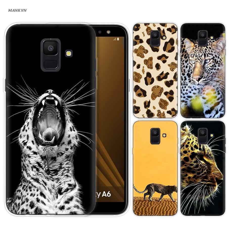Guepardo leopardo Jaguar Pantera funda de silicona para Samsung Galaxy A6S A8S A7 A9 2018 J4 J6 más J8 2018 J6 + J4 + volver cubierta de la cáscara