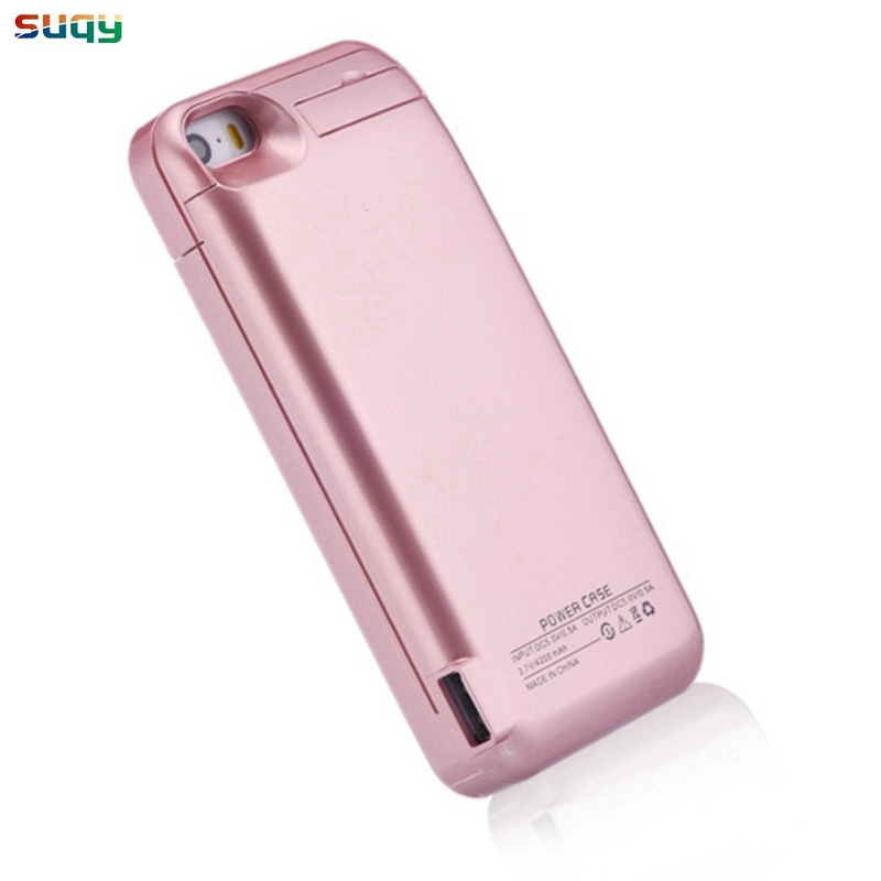 Suqy Externe Batterie für iphone 5 5c 5 s se 4200 mAh Akkumulator Fall mit Batterie für iphone 5 5c 5 s se Power Bank Batteriekasten