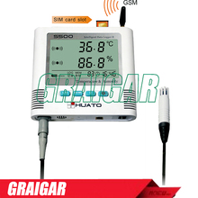 Buy online NEW Brand S500-EX-GSM Refrigeration GPRS Monitoring, Temperature Humidity Data Logger with SMS Temperature Alarm