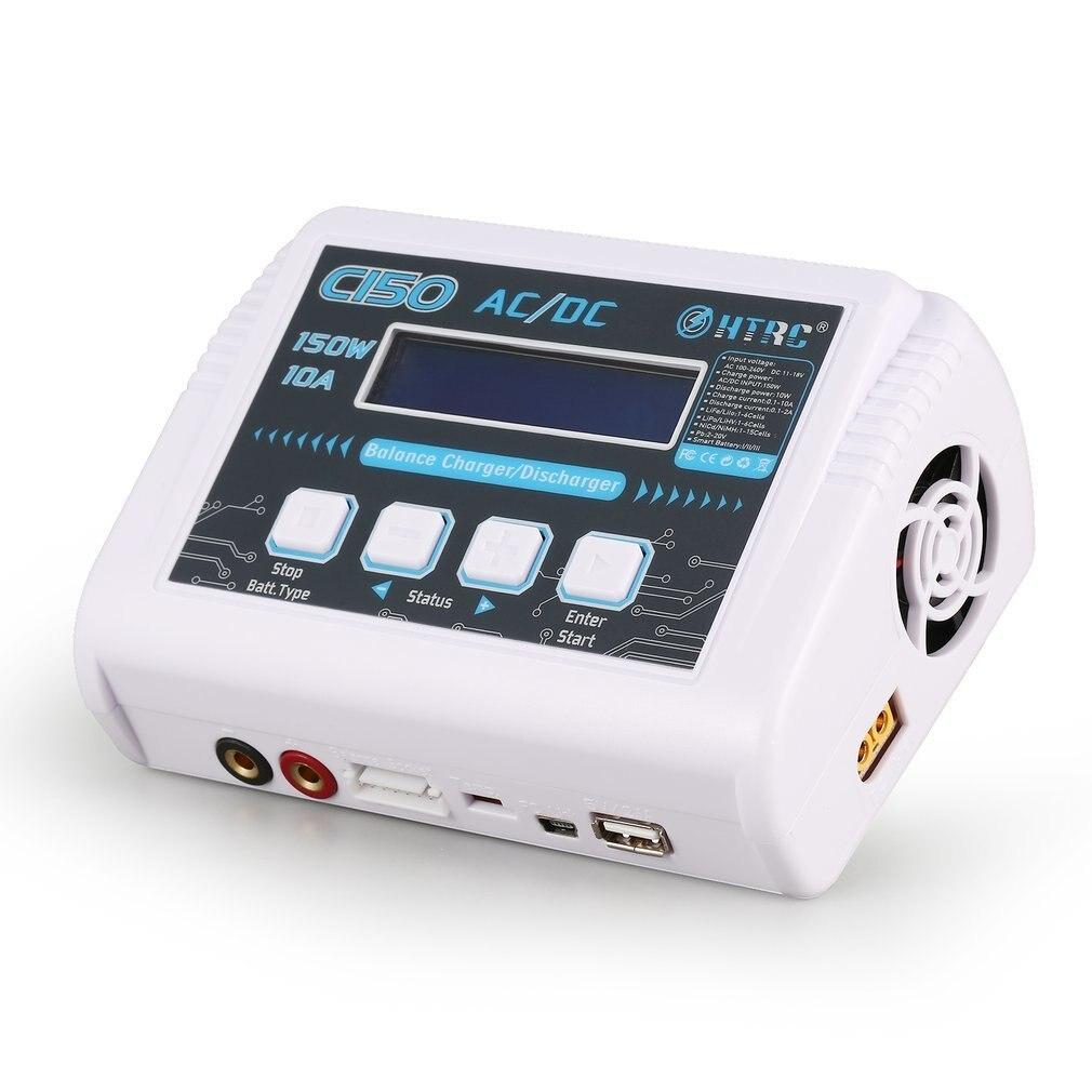 Neue Ankunft HTRC C150 AC/DC 150 watt 10A RC Smart Batterie Balance Ladegerät für LiPo LiHV Leben Lilon niCd NiMh Pb batterie Entlader