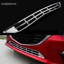 Автомобильный передний нижний бампер, решетка, сетчатая накладка, накладка на воздушный вход, декоративная полоска, подходит для Mazda 3 Axela P228