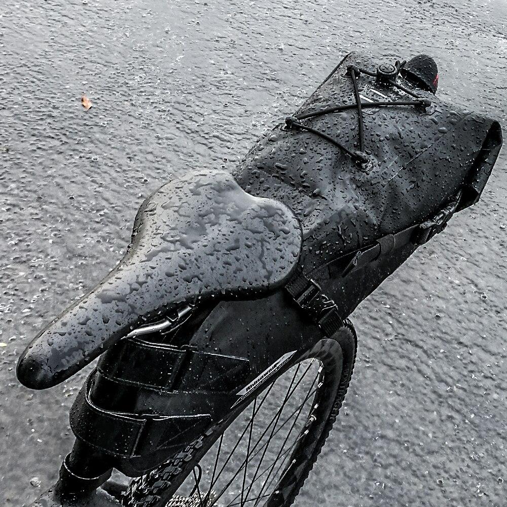 RHINOWALK 2017 Date 10L 100% Étanche Vélo Sac De Selle de Bicyclette Sac Vélo Vtt Arrière Siège Arrière Sac Vélo Accessoires - 3