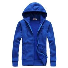 New 2019 Plain Mens Zip Up Hoody Jacket Sweatshirt Hooded Zipper male Top Outerwear Black Gray Boutique men Free shipping
