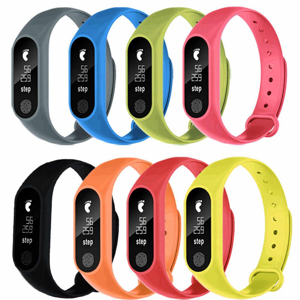 2019 100% חדש לגמרי מתנות באיכות גבוהה ספורט מד צעדים חכם צמיד קצב לב Bluetooth 4.0 חכם שעון עבור אנדרואיד IOS8.0