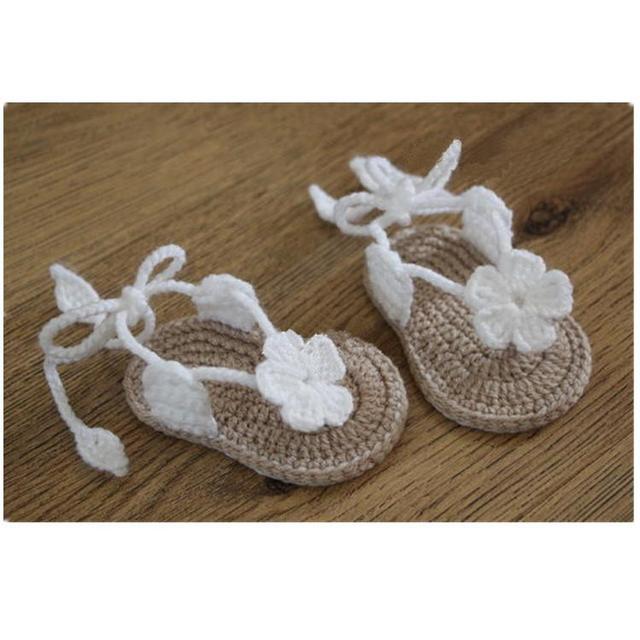 вязаные детские сандалии вязание крючком детская обувь вязание
