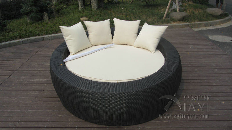 Home / Office Leisure Outdoor Rattan Daybed With White Cushion transport by sea christina fitzgerald инструмент для удаления кутикулы precision