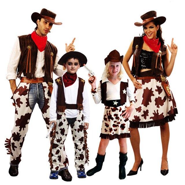 Mode Junge Madchen West Cowboy Cosplay Kostum Fur Kinder Erwachsene