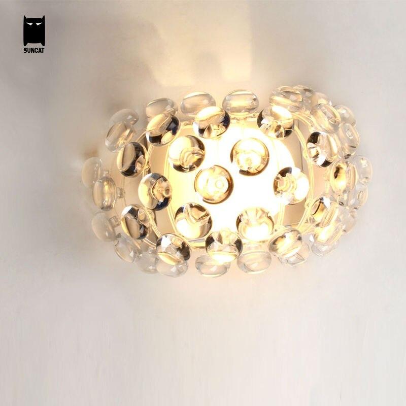 Caboche Ball Wall Light Fixture Modern Glass Shade G9 Sconce Lamp Luminaria Design Foyer Bedroom Bedside Hallway Living Room