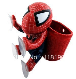 Free shipping cute basket spider man spider automobile accessories  sucking disc spider-men 2colors 6pcs/lot mix colors sj16