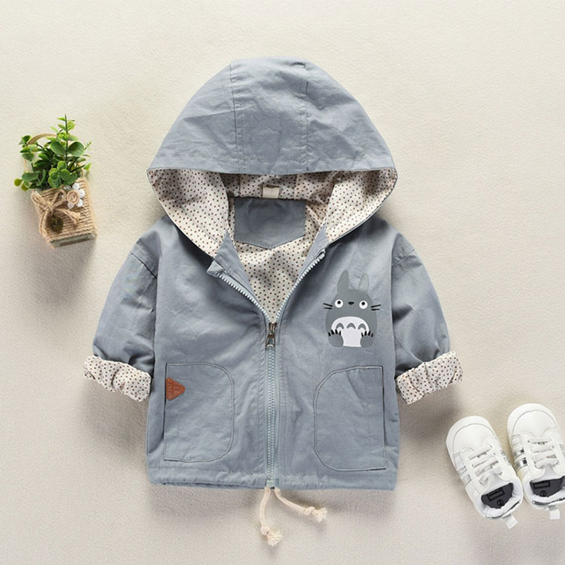 Baby Children's windbreaker jacket for a boy girls clothes newborn baby outfit hooded outerwear spring kids clothing coat jacket