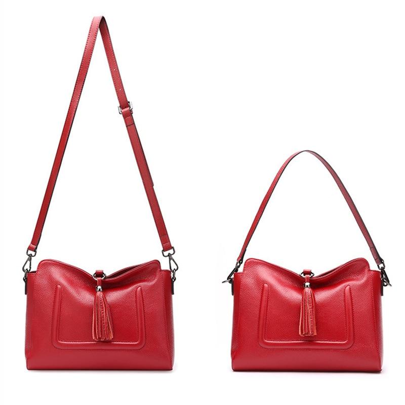 SUDS Brand Women Shoulder Bags 2017 Genuine Leather Tassel Women Messenger Bag Designer High Quality Female Fashion Shopping Bag
