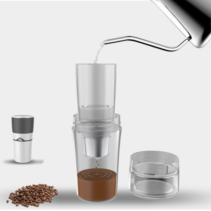 Portable Single Serve Coffee Maker K Cup Drip Coffee Brewer Travel Mug MAY28
