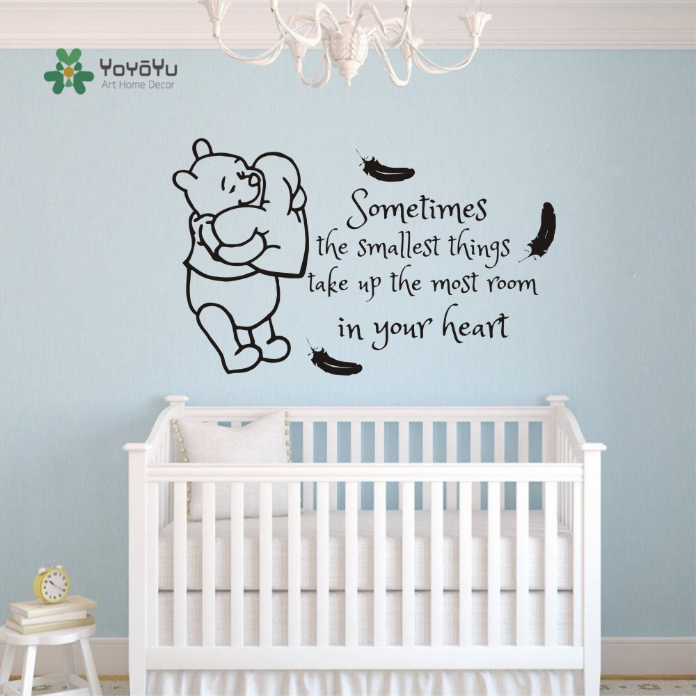 Baby Winnie the Pooh Wall Stickers Nursery Baby Kids Room Peel /& Stick Decors