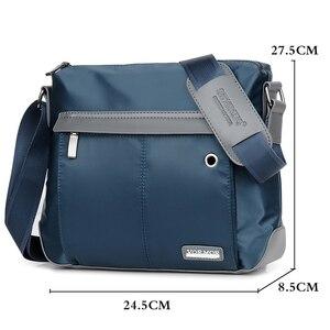 Image 3 - VORMOR Vintage torba męska torebka na ramię Crossbody torby męskie moda