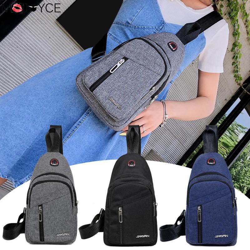 Women Men Casual Shoulder Bag Solid Color Shoulder Crossbody Pouch Women Men Wild Waist Belt Packs Canvas Chest Bags Shouldr Bad