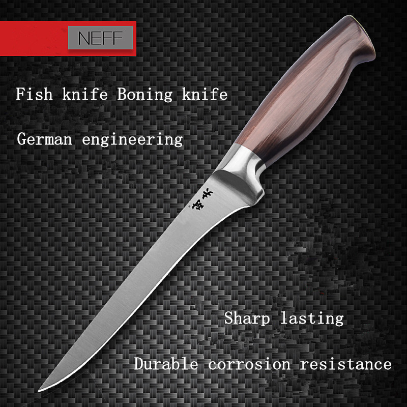 Free Shipping NEEF Stainless Steel Kitchen Fillet Knife Eviscerate Fish Sculpture Knife Japanese Style Osteotome Boning
