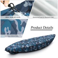 Professional Kayak Storage Cover Camouflage Kayak Canoe Boat Waterproof UV Resistant Dust Protection Boat Cover Kayak accessory