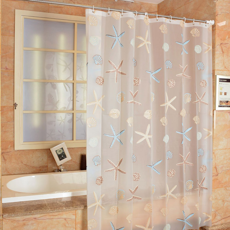 New Bathroom Shower Curtain Mediterranean PEVA Toilet Partition Waterproof Mouldproof Thickening In Curtains From Home Garden On