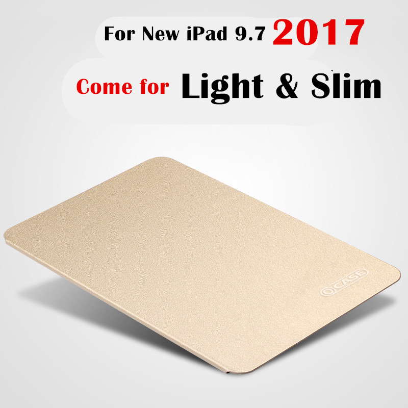 For ipad 9.7 2018 a1893 Slim Flip COVER Leather case For New iPad 9.7 2017 A1822 A1823 Tablet Case Flip Cover Protective Shell