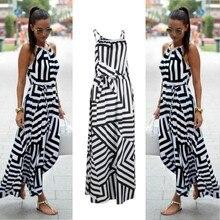 81403f28d92fee Vrouwen Sexy Summer Dress Boho Maxi Lange Avond Party Dress Beach Dress  Zonnejurk