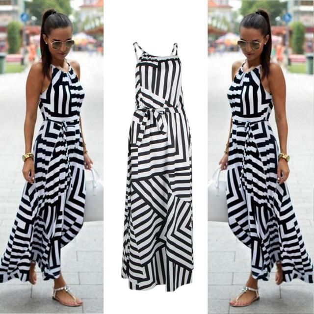 Casual Sexy Summer Boho Style Maxi Long Beach Dress