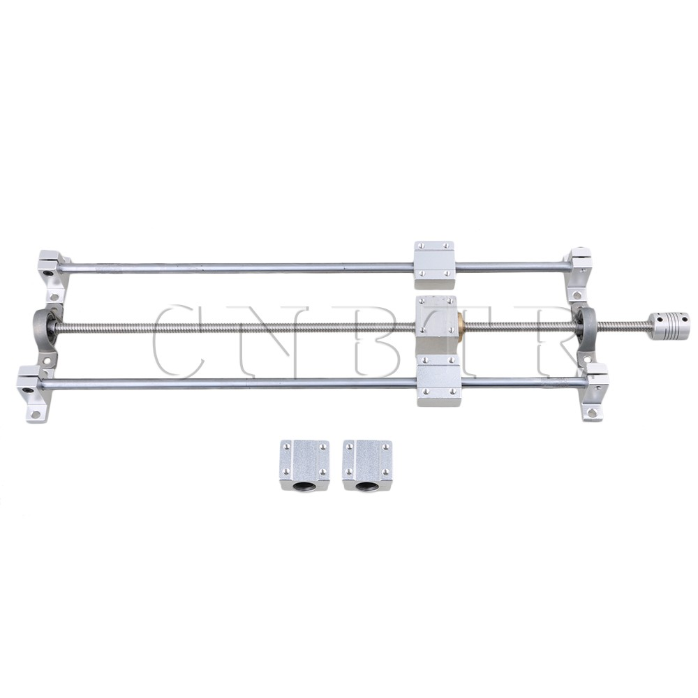 CNBTR T8 Horizontal Dual Rails 400mm Optical Axis & 450mm 2mm Lead Screw Set