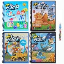 Sihir Air Menggambar Buku Mewarnai Notebook Doodle Sihir Pen Lukisan Papan Belajar Anak Pendidikan Anak Gadis Anak Menggambar Mainan