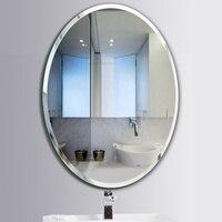 Ванная комната овальное зеркало для макияжа паста Бесплатная пробивание Туалет Настенное подвесное зеркало настенный туалетный зеркало