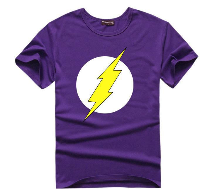 The Big Bang Theory T shirt Sheldon Cooper super hero green lantern the flash cosplay t shirts men women geek tee TBBT tshirt