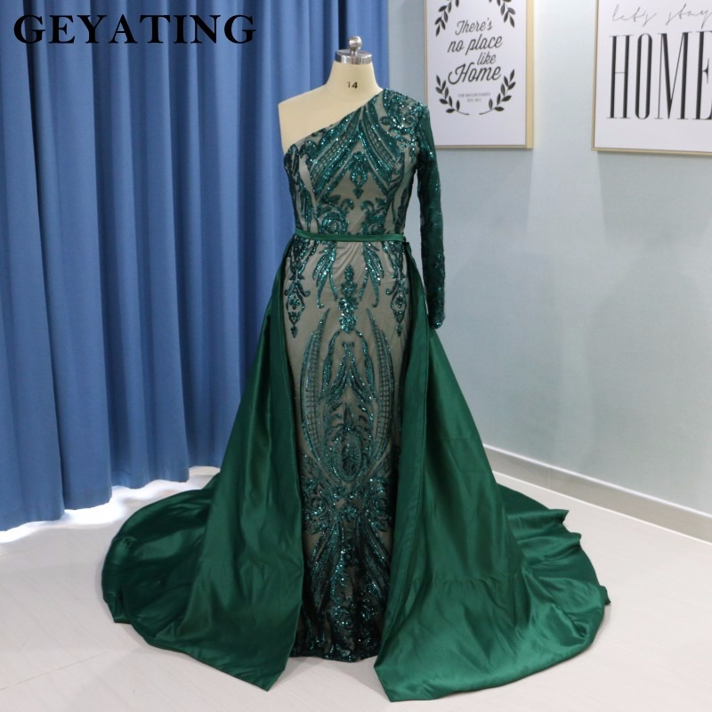 fd3de801f4 US $199.99 Elegant New Saudi Arabic Long Evening Dresses Dubai 2019 ...