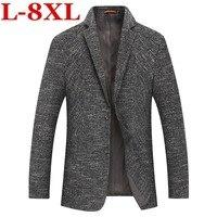 Большие размеры 8XL 7XL 6XL Новое поступление брендовая одежда куртка весна пиджак Для мужчин Блейзер Мода тонкий мужской костюмы Повседневное