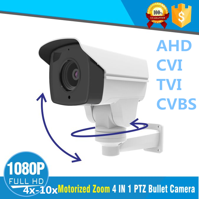 1080P AHD PTZ Bullet  Camera 10X Motorized ZOOM 5.0mm-50mm 2MP Outdoor waterproof Bracket CCTV with Color IR  Night vision 80M1080P AHD PTZ Bullet  Camera 10X Motorized ZOOM 5.0mm-50mm 2MP Outdoor waterproof Bracket CCTV with Color IR  Night vision 80M