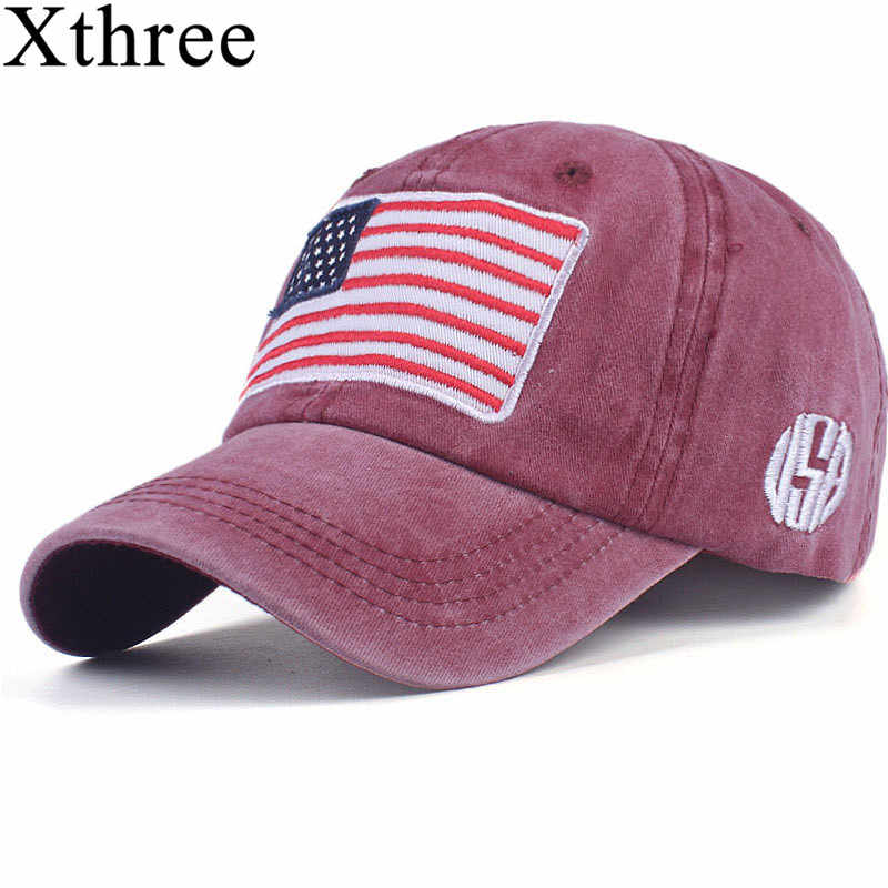 aa77553c4c530 Xthree fashion Baseball Cap men s Snapback Hats For women Hip hop Gorras  bone Embroidered National flag