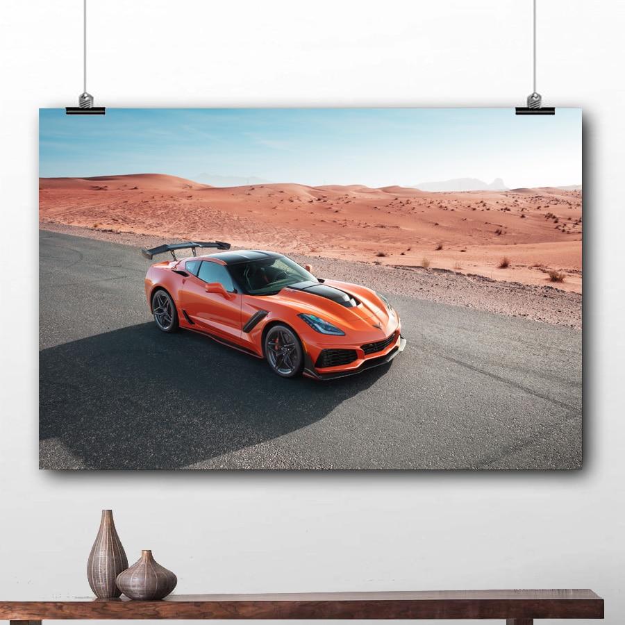 Chevy Corvette ZR1 Sports Car Canvas Print Poster Art Home Decor Wall Art