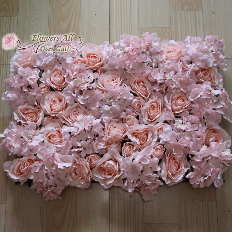 Flowers All Over Gulf Premuim Silk Flower Wall Hire Floral Rose Wall
