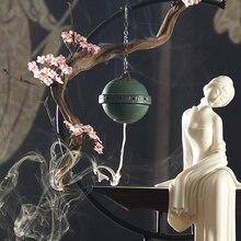1 шт. керамика полые винтажный узор китайский стиль домашний декор благовония горелки шарик с ладаном перевернутый дзен украшения